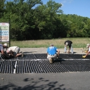 Installing Pavers at the ADA Trail
