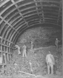 Tunnel construction in 1949