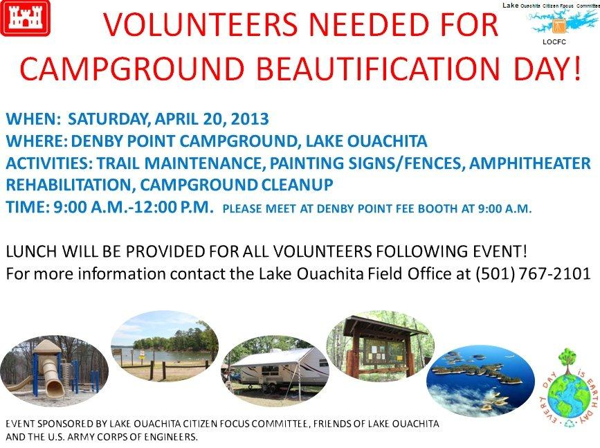 Campground Beautification Day - April 20, 2013