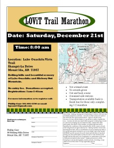 Updated Flyer for the 2013 LOViT Marathon, now scheduled for Dec. 21, 2013.