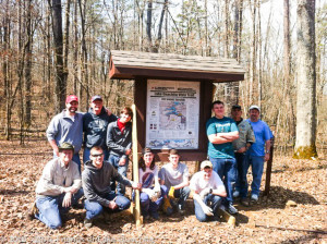 Pipe Spring Trailhead sign Installed by Boy Scouts