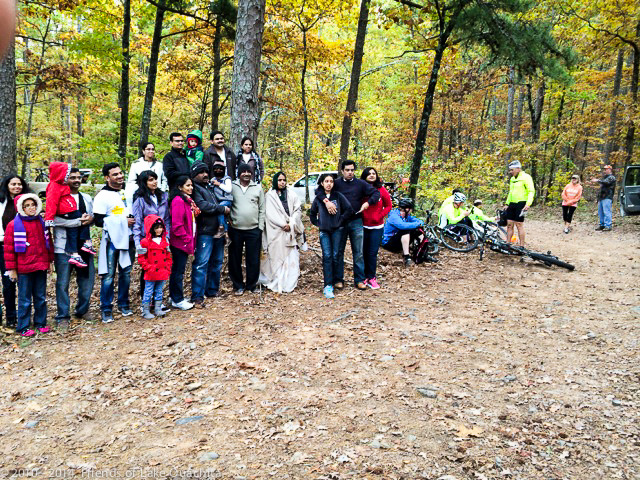 As we were finishing work, two large groups were enjoying the trailhead, one a group of riders from around Tyler, Texas, and the other a group from Dallas who were staying at Mountain Harbor Resort.