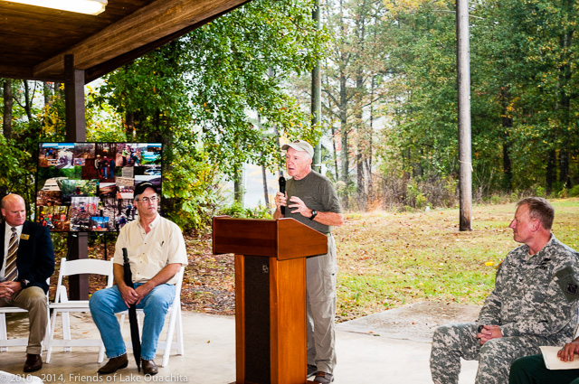 Introductory remarks by Jerry Shields covered the history of the effort to build the LOViT and recognizes the importance of the organizations that participated in the Coalition supporting the Trail's planning and construction.
