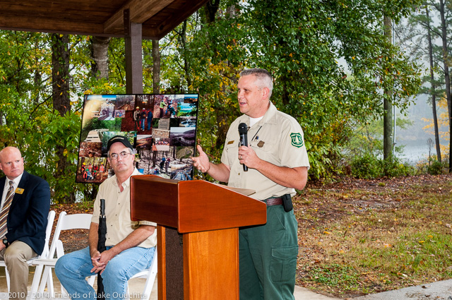 Norm Wagner, Supervisor of the Ouachita National Forest, recognized the Traildogs for their tenacity in this 10-year project and noted the cooperation between the US Forest Service and the Corps of Engineers in their support for the Trail.