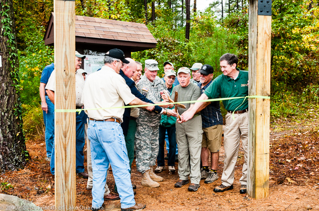 Cutting the ribbon at the LOViT's Avery Trailhead.