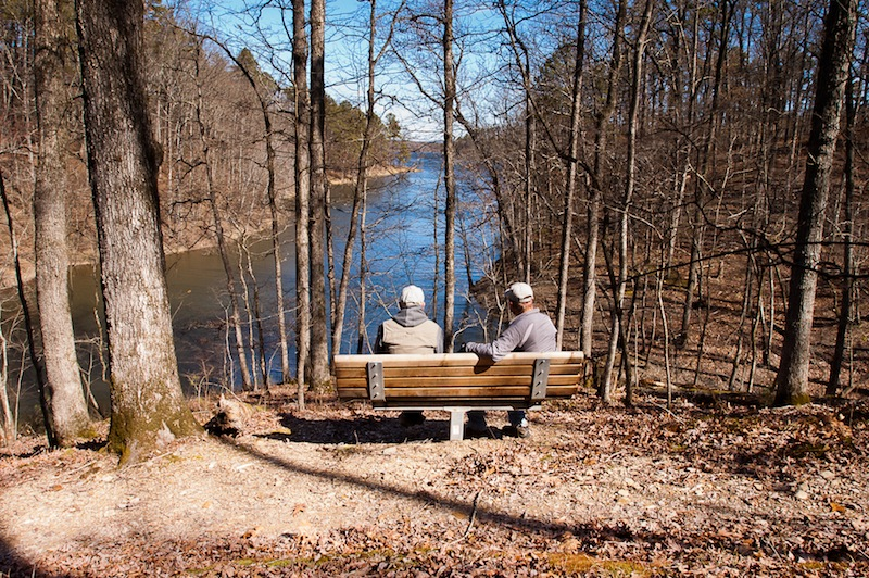 Sponsor a bench along the Lake Ouachita Vista Trail