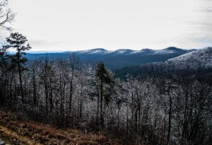 Plenty of ice greeted the Delta State hikers on Hickory Nut Mountain