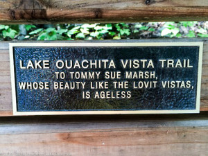Plaque for Tommy Sue Marsh, sponsored by her husband, Traildog Jay Marsh.